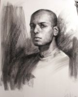 Self Portrait in Charcoal by SidharthChaturvedi