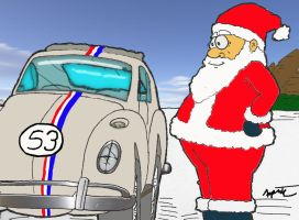 Santa's New Ride Colored by LittleBigDave