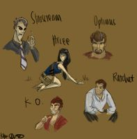 TFP human sketches by Shimmerpaw