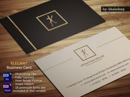 Elegant Business Card by khaledzz9