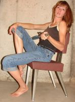 Danielle Sitting with Dagger 3 by FantasyStock