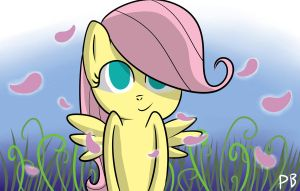 Filly Fluttershy by Penguin-Potential