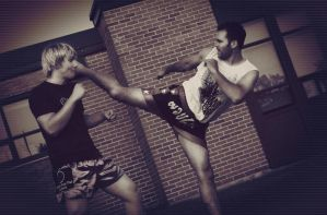 Muay Thai Kick by Heinonen