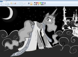 Luna go to GALA in paint by sallycars