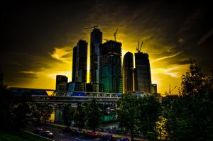 moscow city. 19:56 by moitisse