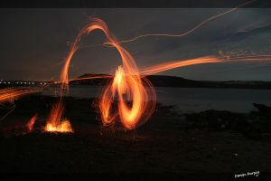 Long Exposure Embers2 by Triple7