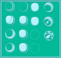 15 abstract round brush set by Nephire