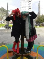 Vocaloid - Teto and Miku by CherryMemories