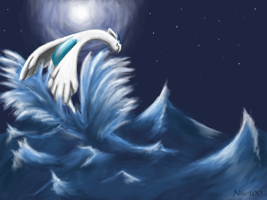 Lugia's Night by Nanasschevelu