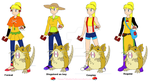 Pokemon Adventures Yellow Alt Outfits by TeamPokeball