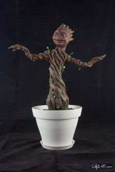 [Garage kit painting #14] Baby Groot statue - 001 by DasArt