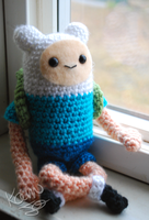 Adventure Time Finn Doll by kamijo