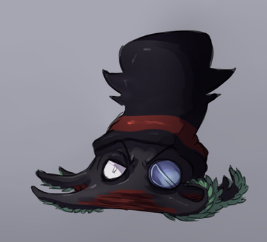 vampire squid black hat by Wolframclaws