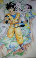 dragon ball Z Goku and freezer by Dream-Catcher-88