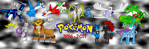 15 Years of Pokemon by fire-ice-n-lightning