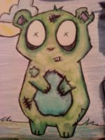 ZOMBIE HAMPSTER by hlaurah