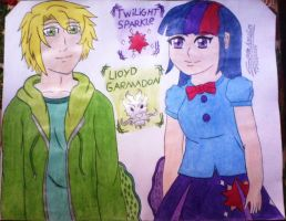 Lloyd Garmadon y Twilight Sparkle (Crossovers #4) by clubpenguin1