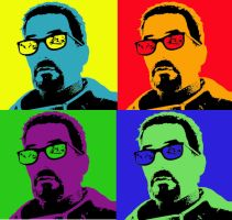 Gordon Freeman Andy Warhol by Dante3o3