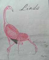 Flamingos Color Pencil by Cookie96