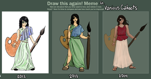 Painters Redrawn, 2012-2013-2014 by VariousCahoots