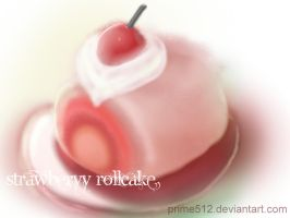 Strawberry rollcake by prime512