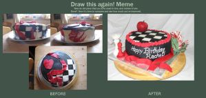 Kick My Own Ass - Cake version by Stephanie-Chivas