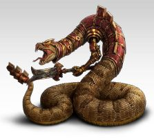 Rattlesnake warrior by lordeeas