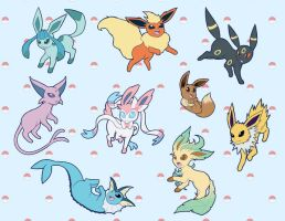 Eeveelutions by SaBasse