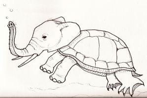 Turtlephant by jaimeiniesta