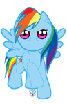 Cuties - MLP Rainbow Dash Full Body by phoenixcrash