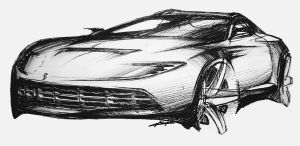 ferrari sketch by Chrupson