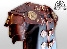 Armoured coat by armrdleather