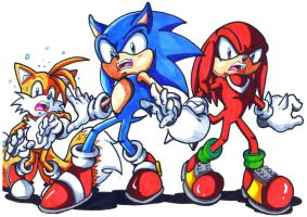 sonic tails and knuckles... y so scary lookin by trunks24