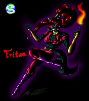 Fritae the dark Genie by MrSman5