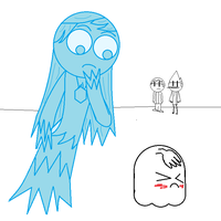 Mary meets High-Five ghost by Masterluis500