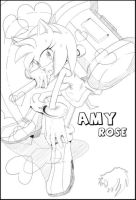 Amy Lineart by AiSonikkuXEmmy