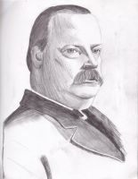Grover Cleveland in pencil by floatingonatidalwave