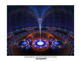 Colorful Fountains of Satu by Yenkoff
