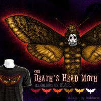 ..death's head moth shirt design... by faustdavenport
