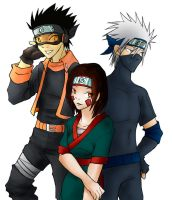 _+ Obito, Rin and Kakashi +_ by BlackKetchup