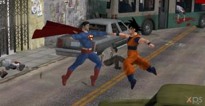 Goku Vs. Superman by calibur222