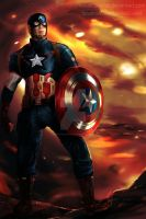 Captain America Avengers: Age of Ultron by Reika00Scarlet