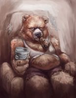 Papa Bear by artistic-diarrhea