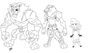 Lion and the Wolf Character designs by Mono-Phos