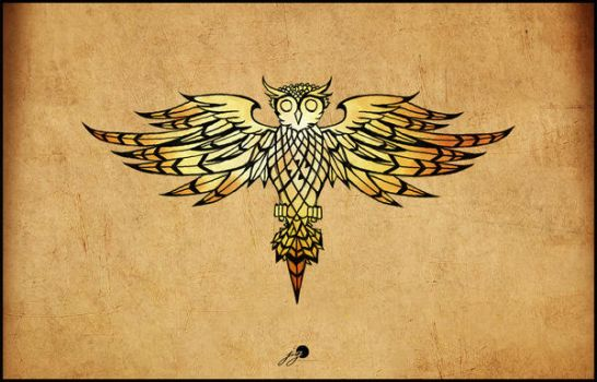 owl-tattoo design by johngiannis27