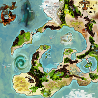 poke-mystery-dungeon world map by empiredog