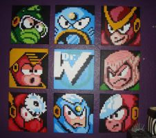Megaman 2- Robot masters by AmnesiaE