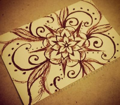 ACEO-'Flower Spiral' by strryeyedreamr27
