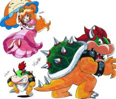 Peach and Bowsers by MikeES