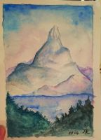 Lonely mountain  by Darya25